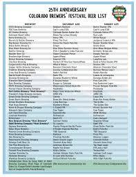 Colorado Brewery Map by Colorado Brewers U0027 Festival Beer List U0026 Updates Brewtally Insane