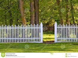 white picket fence stock image image 2051691