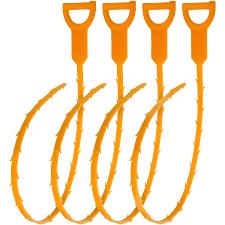 Bathtub Drain Clog Snake by Igadgitz Home Orange Flexible Drain Snake Stick Hair Clog Food