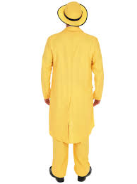 The Mask Costume Men U0027s Yellow Zoot Suit Fancy Dress Costume 20s And Gangster