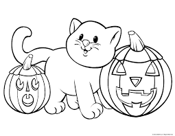 halloween pictures print color kids coloring