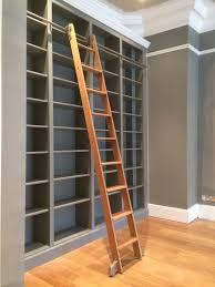 Large Ladder Bookcase Bespoke Large Bookcase With Solid Oak Sliding Ladder