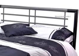 Atlanta Bed Frame Metal Beds Atlanta 4ft Small Silver Black Metal Bed Frame