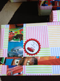 lightning mcqueen birthday theme diy return gift wrapping idea