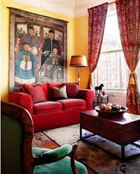 Living Room With Red Sofa by What Color Green Walls Go With A Burgundy Couch Design Interior