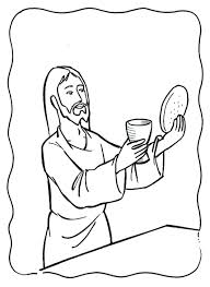 the last supper coloring page free coloring kids 9810