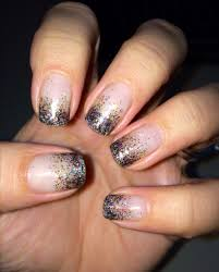 gel nails new years gel nail design sparkles glittery fun my