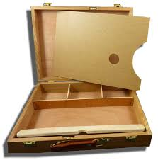 artists storage boxes quality timber or plastic