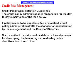 Formal Credit Policy Credit Risk Management Ppt