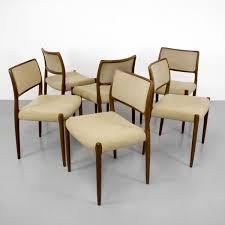 Teak Furniture Singapore Vintage Danish Model 80 Teak Chairs From Niels O Møller Set Of 6