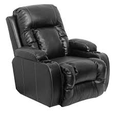 Electric Recliner Armchair Catnapper Top Gun Leather Power Chaise Recliner Chair In Black