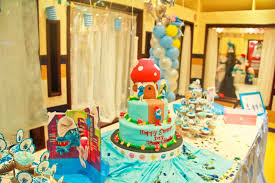 the smurfs birthday party ideas photo 8 of 13 catch my party