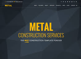 metal building and construction business wordpress themes