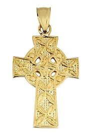 celtic crucifix celtic cross pendant the traditional yellow gold ancient celtic
