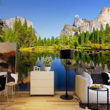 online get cheap painting wall murals aliexpress com alibaba group custom 3d poster photo wallpaper blue sky scenic landscape inverted image living room background photography wall mural painting
