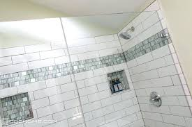 bathroom shower niche ideas niche shower black pebble tile shower niche accent shower niche