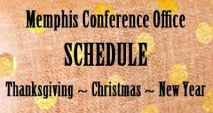 conference office announces schedule for thanksgiving