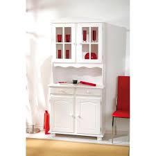 vaisselier de cuisine meuble vaisselier cuisine vitrine 2 portes coloris blanc en pin