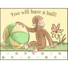 monkey invitations baby shower amazon com curious george baby shower invitations w envelopes