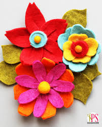 felt flowers diy felt flower tutorial
