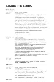 Project Manager Resume Example by Product Manager Resume Sample Experience Resumes