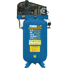 puma belt drive stationary vertical air compressor u2014 80 gallon