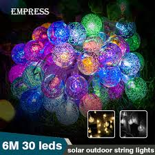 outdoor christmas light balls crystal outdoor led lighting string solar fairy lights christmas
