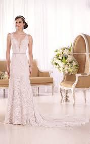 low v neck bridal gown i essense of australia
