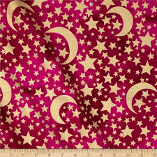metallic home decor michael miller moon u0026 stars metallic moon u0026 stars raspberry