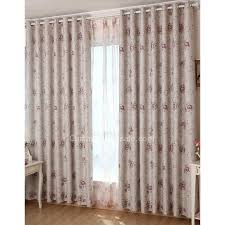 Thermal Energy Curtains Decorative Floral Pattern Gray Polyester Fabric Thermal Energy
