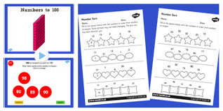 2 maths order numbers from 0 up to 100 lesson pack pack