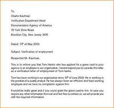 Employment Resume Template Employment Verification Letter H1b Best Example Of Business