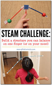 Challenge Through Your Nose Steam Challenge Build A Structure You Can Balance On One Finger