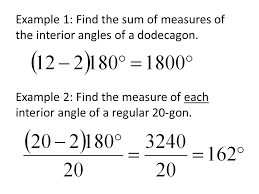 The Sum Of Interior Angles Honors Geometry Sections 3 1 U0026 3 6 Polygons And Their Angle
