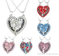 s day charm necklace discount broken heart necklace 2017