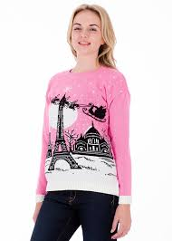 christmas in paris womens christmas sweater by british christmas