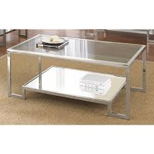 chrome glass end tables cordele chrome and glass coffee table overstock shopping great