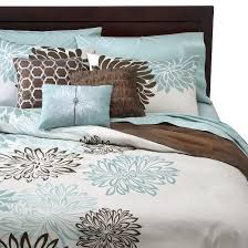 Duvet Covers Teal Blue Anya 6 Piece Floral Print Duvet Cover Set Blue Brown Target