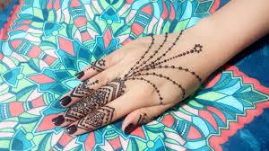 diy small and easy mehendi henna design jewelry tutorial 1