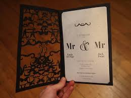 same wedding invitations mr and mr laser cut wedding invite http www