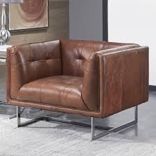 chair and a half leather chairs you u0027ll love wayfair