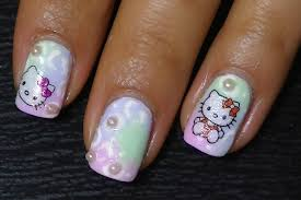 easy hello kitty and white leopard print stickers and hand painted