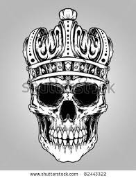 skull king tattoo designs skull king crown design element by