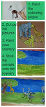 large african animal picture by kids ofamily learning together