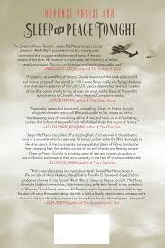 sleep in peace tonight a novel james macmanus 9781250051974