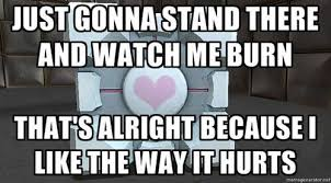 The Cake Is A Lie Meme - the cake is a lie but the companion cube is forever home facebook