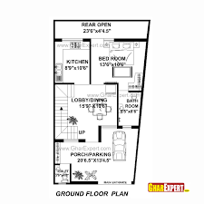 How Big Is 1100 Square Feet House Plan For 22 Feet By 42 Feet Plot Plot Size 103 Square Yards