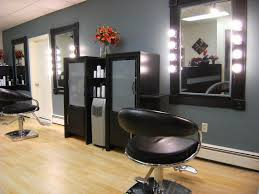 wall mirror with lights for hair salon designs in small areas