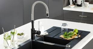 sinks faucets choosen right black modern stylish pulldown kitchen