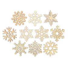 aliexpress buy 10pcs assorted wooden snowflake cutouts craft